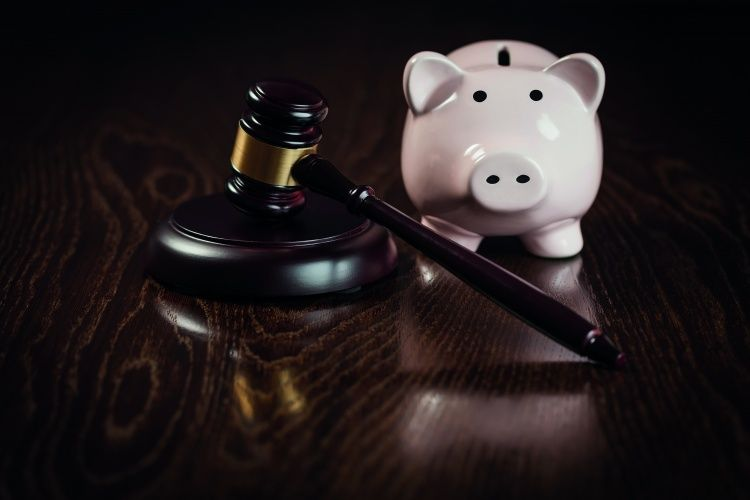 Gavel and Piggy Bank
