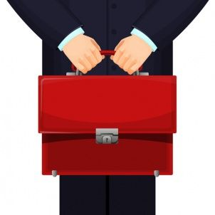 Budget briefcase illustration